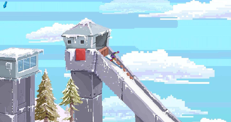 Ultimate Ski Jumping 2020 ez da DSJ.  Partida ederra da, baina ez dago jauzi sakonik