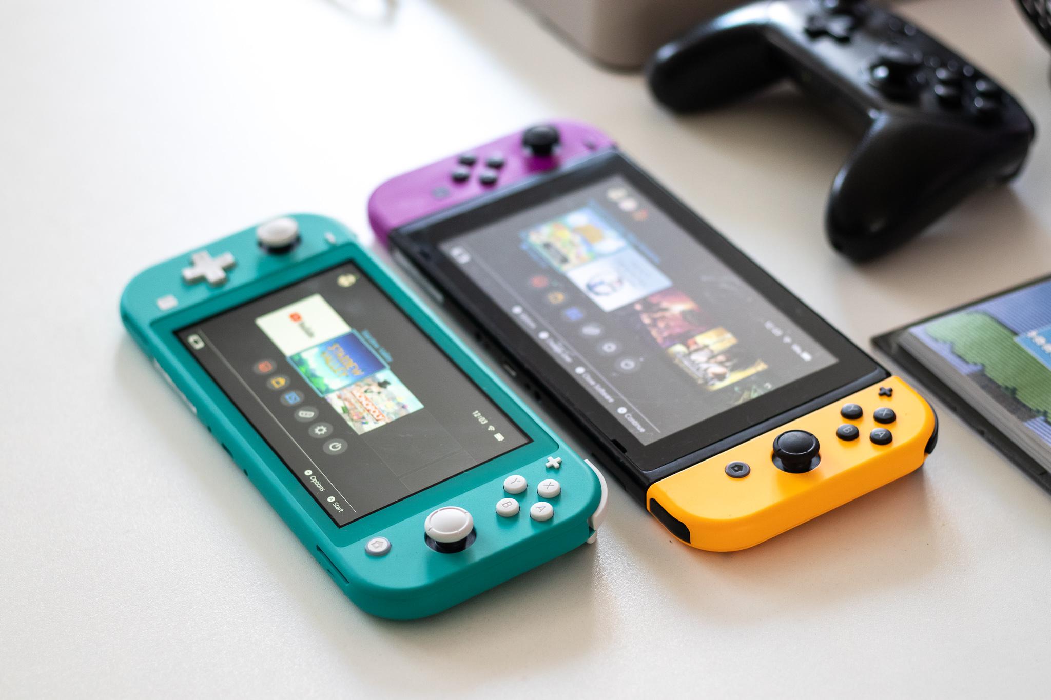 merkeak Nintendo Switch Lite versus garestiago.  Horra hor inork gutxik aipatzen dituen desberdintasunak