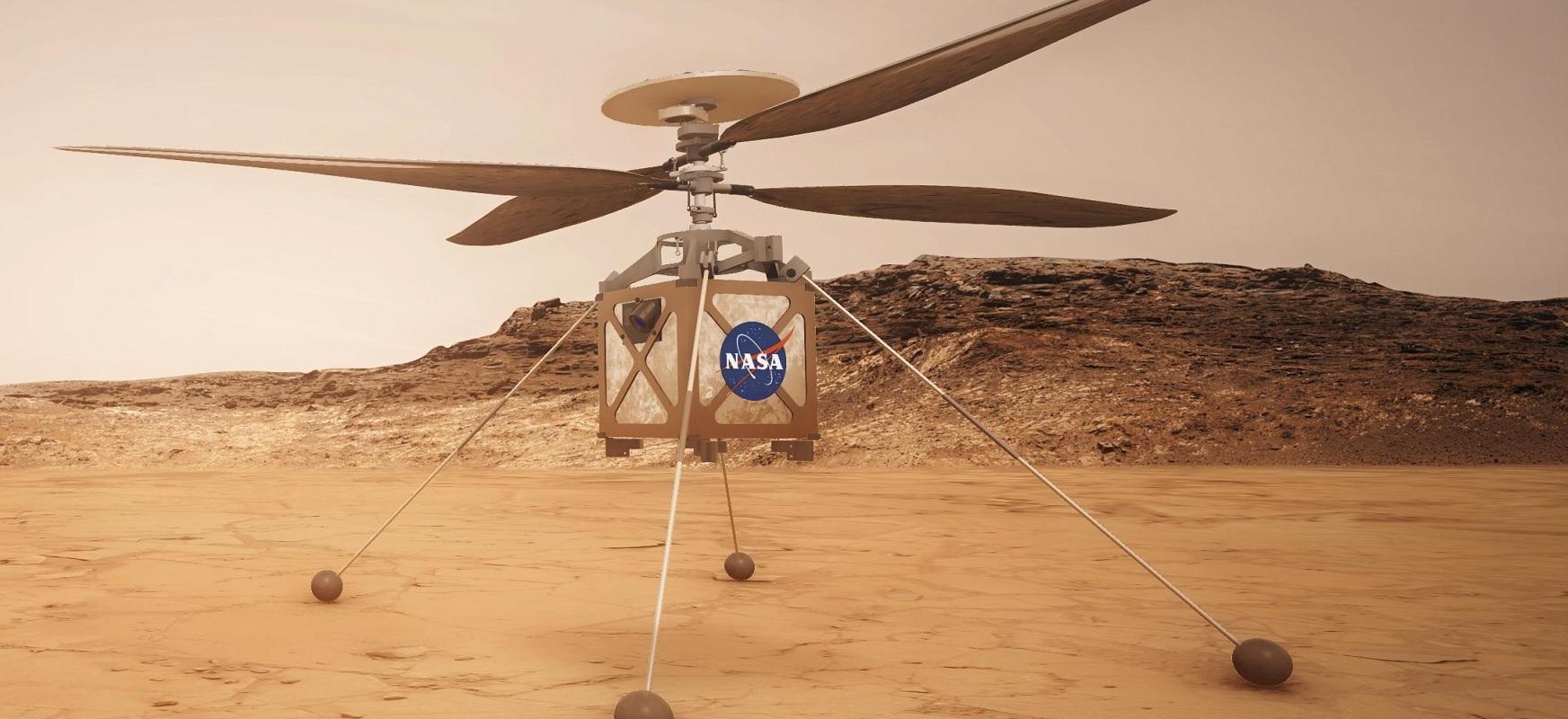 Marte Helikopteroak une batez aktibatu zuen errotorea.  Hurrengoan Marten egingo du