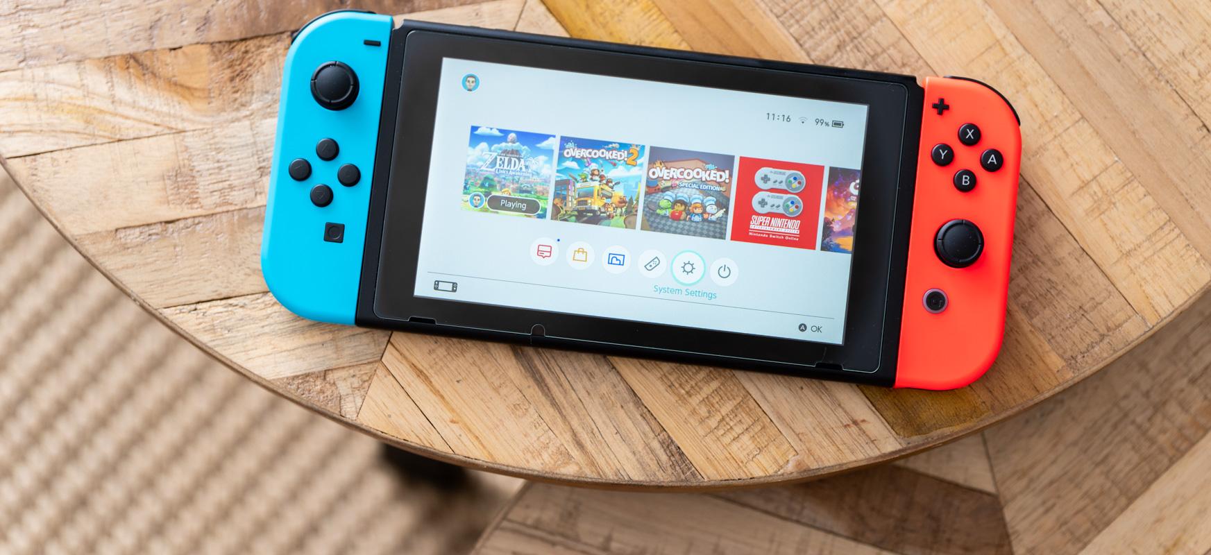 Nintendo Switch jolasteko astirik ez duen jokalari baten begia