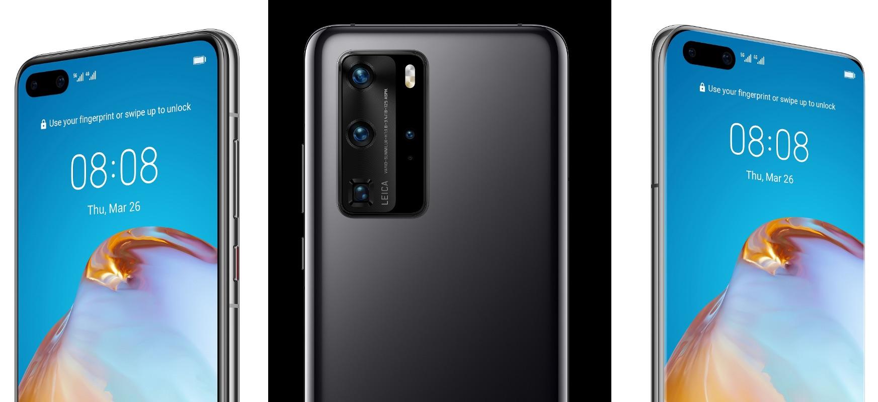 Huawei P40, P40 Pro eta P40 Pro + dira ofizialki.  Bai, hiru goiko modeloak daude