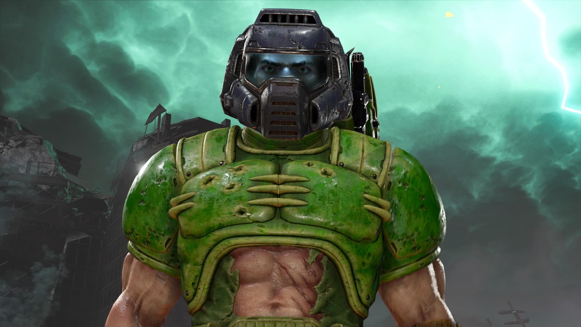 Zer gordetzen du Doomguy-k mahaigainean eta nondik datorkizu Fallout gida?  DOOM Eternoan gotorlekua gag nirea da
