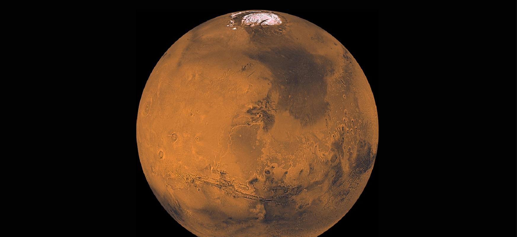 Martiako gauak hodeitsu daude.  Ordenagailu ereduek Planeta Gorriaren klima aztertzen dute