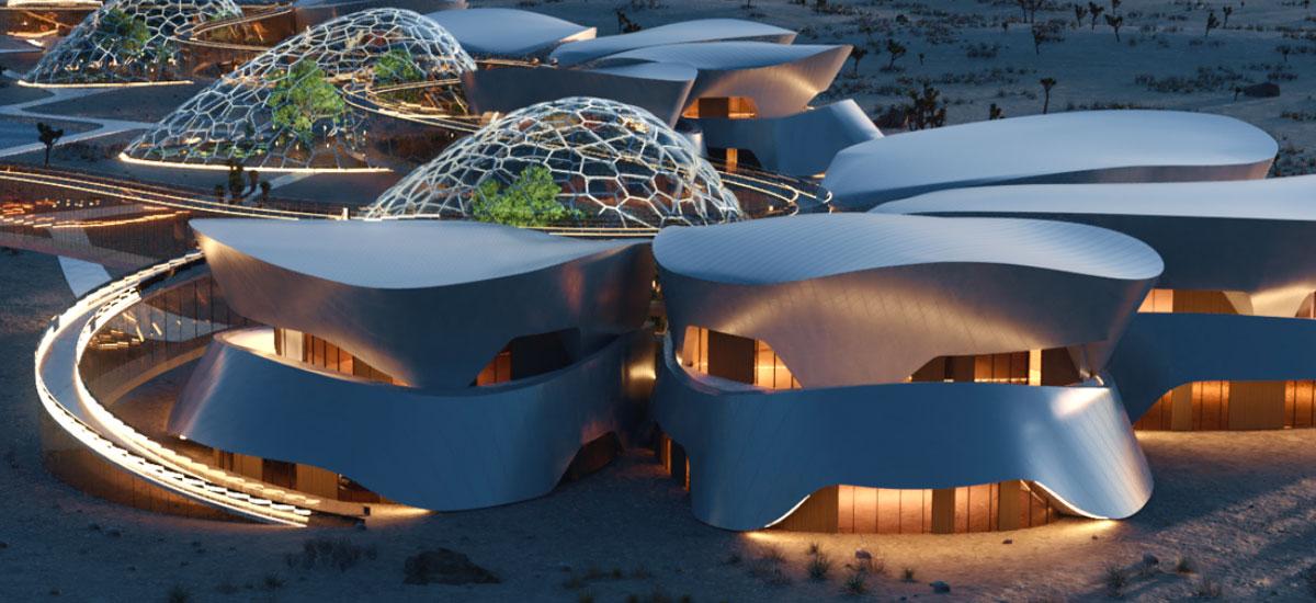 Kalifornian benetako asentamendu bat eraikitzen ari dira Kalifornian.  Astronautaz gain, turistek ere bisitatzeko aukera izango dute