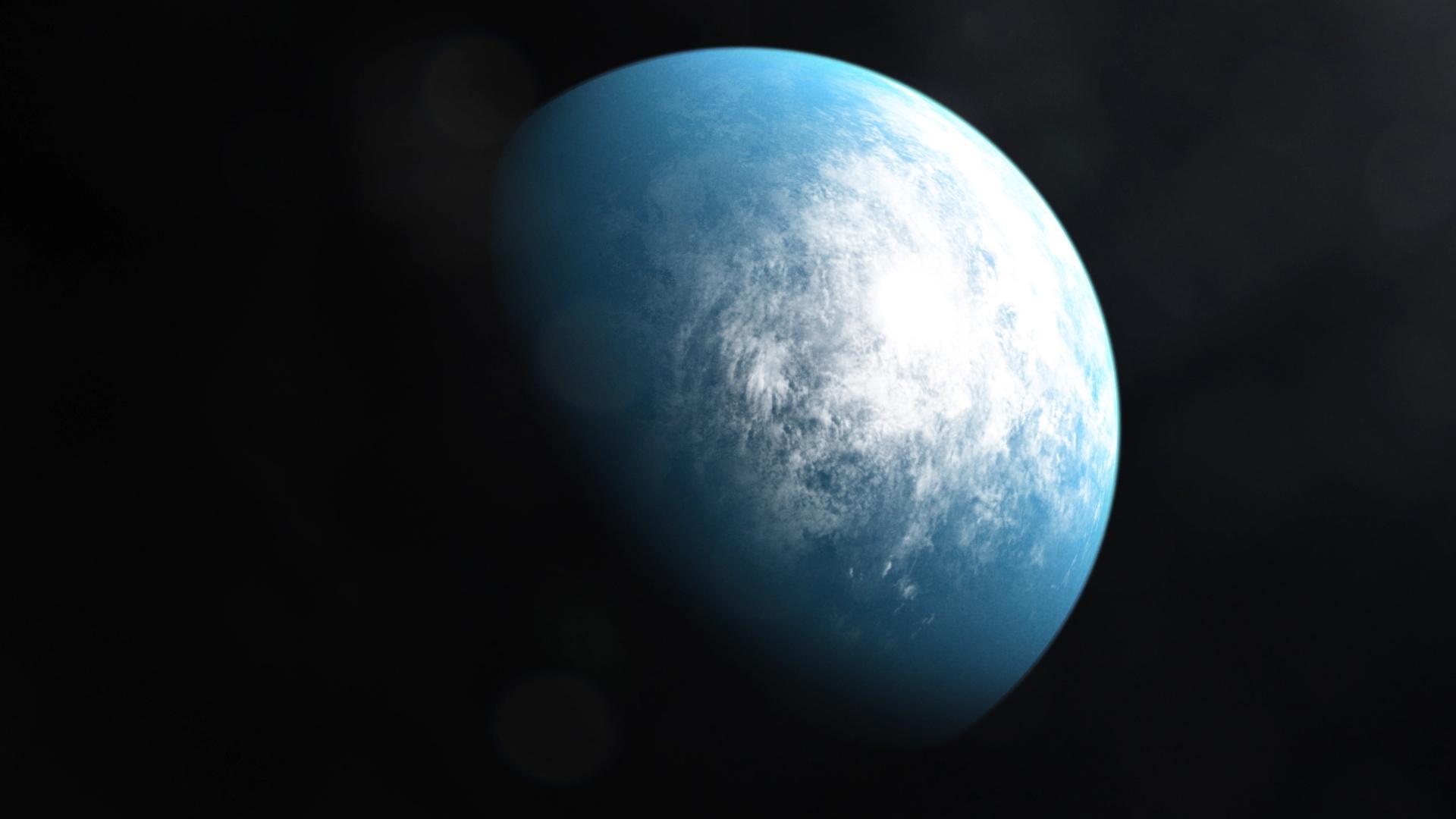 Wizja artystyczna przedstawiająca planetę TOI 700 d