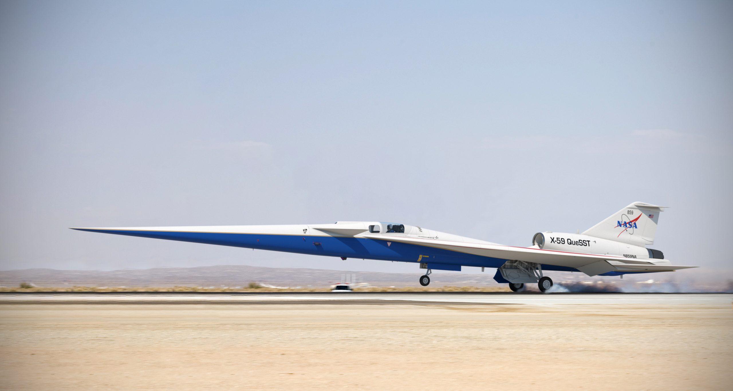 NASAk Concorderen oinordetza eraiki zuen.  X-59 hurrengo urtean prest egon daiteke