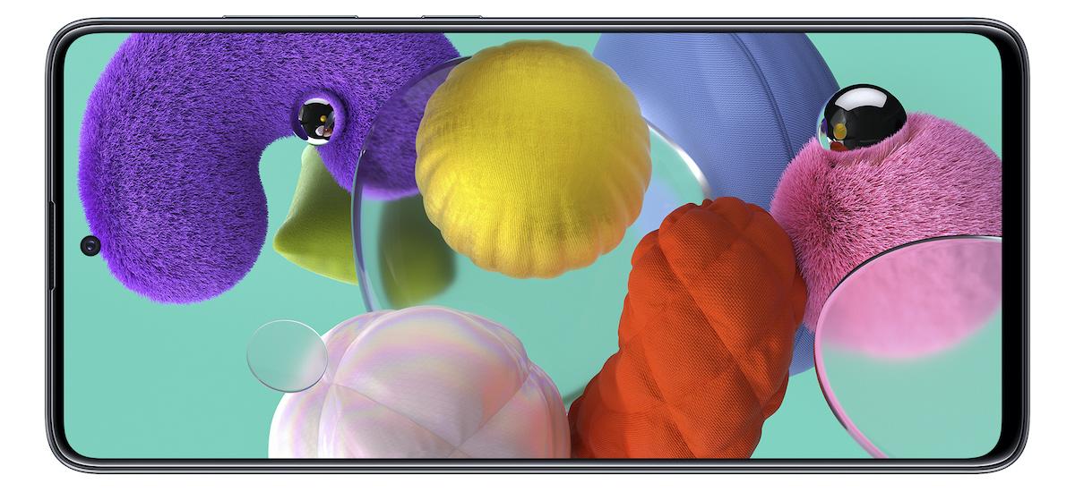 Hau Samsung da Galaxy A71 eta Galaxy A51 pantailetan zuloak dituena