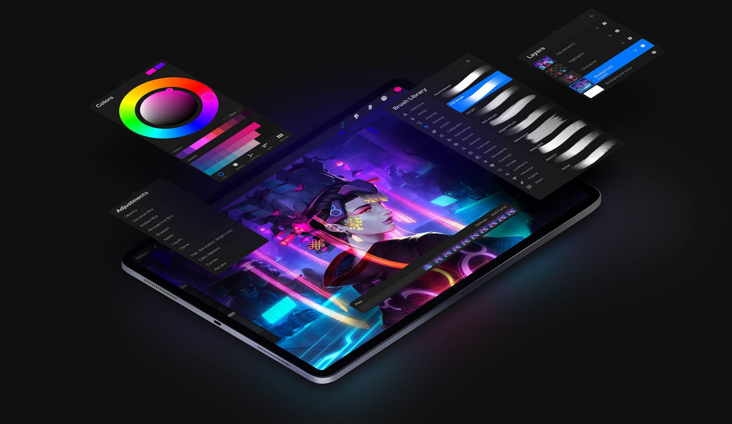 ugaltzeko 5 ofizialki iPad-en.  Hau da marrazki aplikaziorik onena
