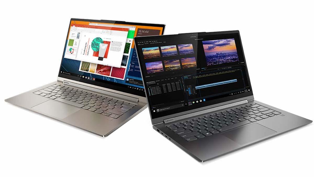 Ordenagailu bat eta tableta batean, hau da, Lenovo Yoga C940 bi tamainatan