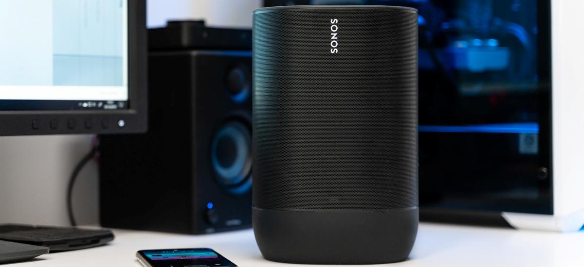 Edozein lekutan eraman ditzakezun lehenengo Sonos - teorian behintzat.  Sonos Move egiaztatu nuen eta nolakoa den esaten dut