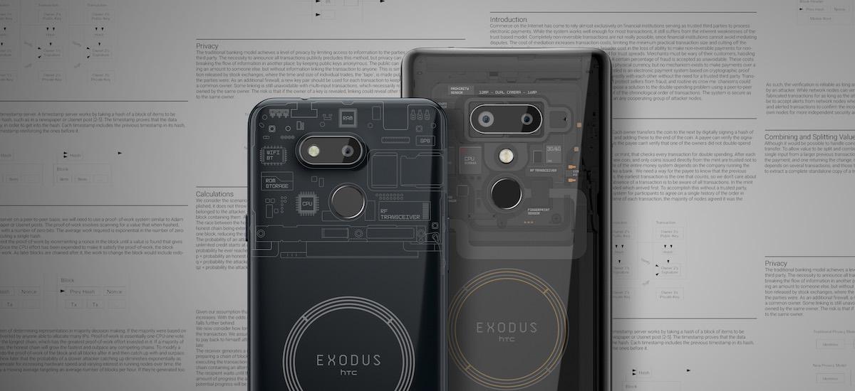 HTC marearen aurka.  Exodus 1s bitcoin zorroa duen smartphone merkea da