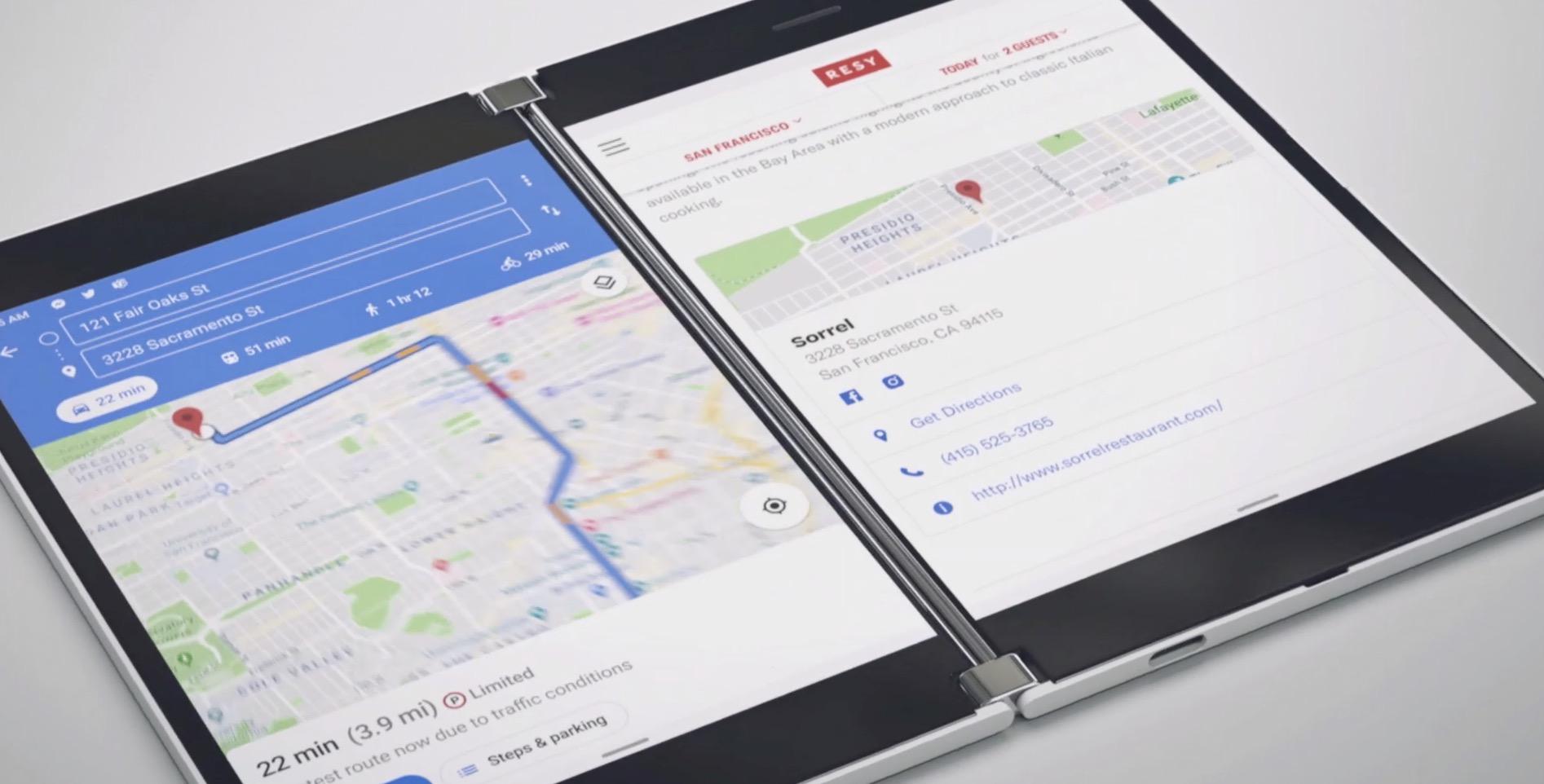 Hau Surface Duo da.  Microsoft-en lehenengo telefonoa Android eta bi pantailarekin
