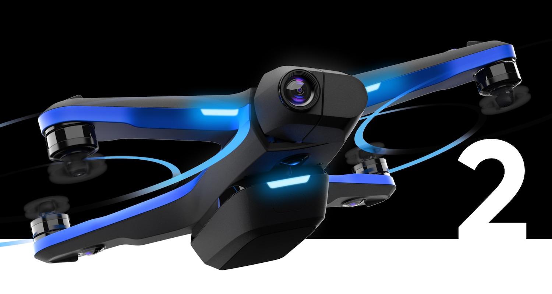 Hau Skydio da 2.  Bakarrik hegan egiten duen drone bat, zuhaitzen artean ere