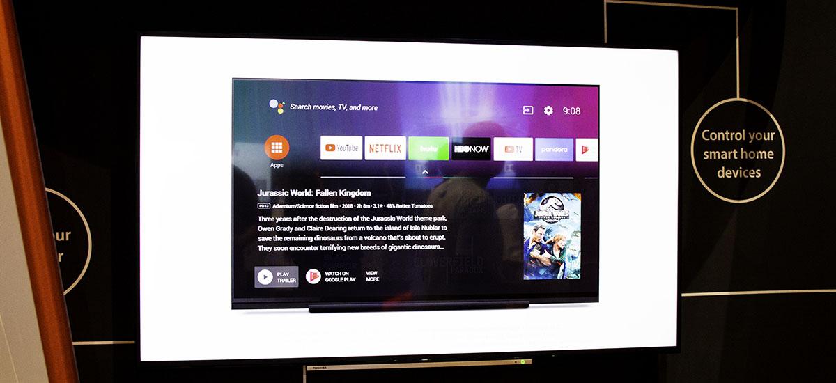 Android telebista eta Google Assistant Toshiba telebistetara iristen dira