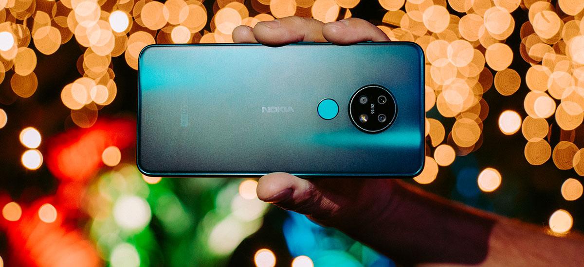 Finlandiako diseinua, bateria handia, Android hutsa.  nokia 7.2 48 Mpix kamerarekin merkatua nahastu daiteke