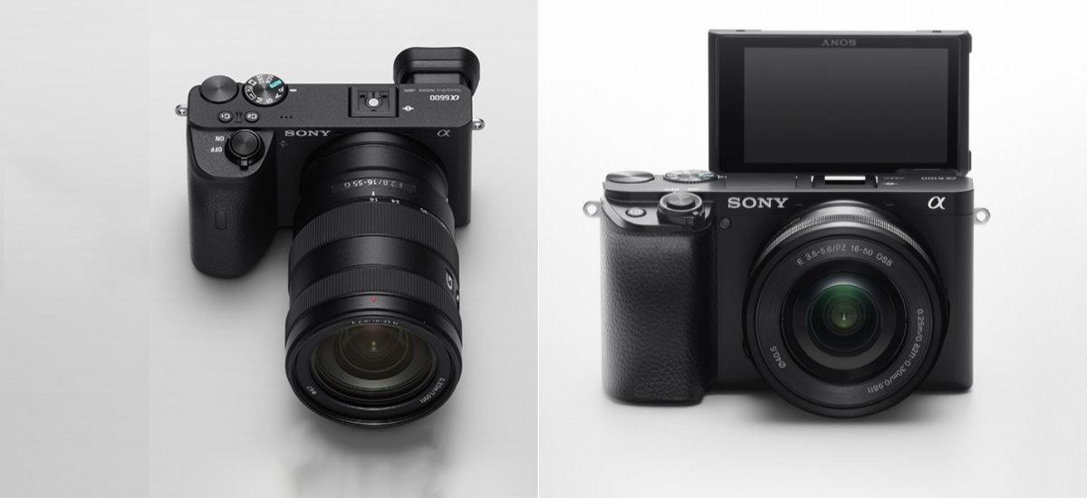 Hemen oinarrizko Sony A6100 eta A6600 enblematikoa daude.  APS-C segmentuan iraingarritasun handia duen Sony
