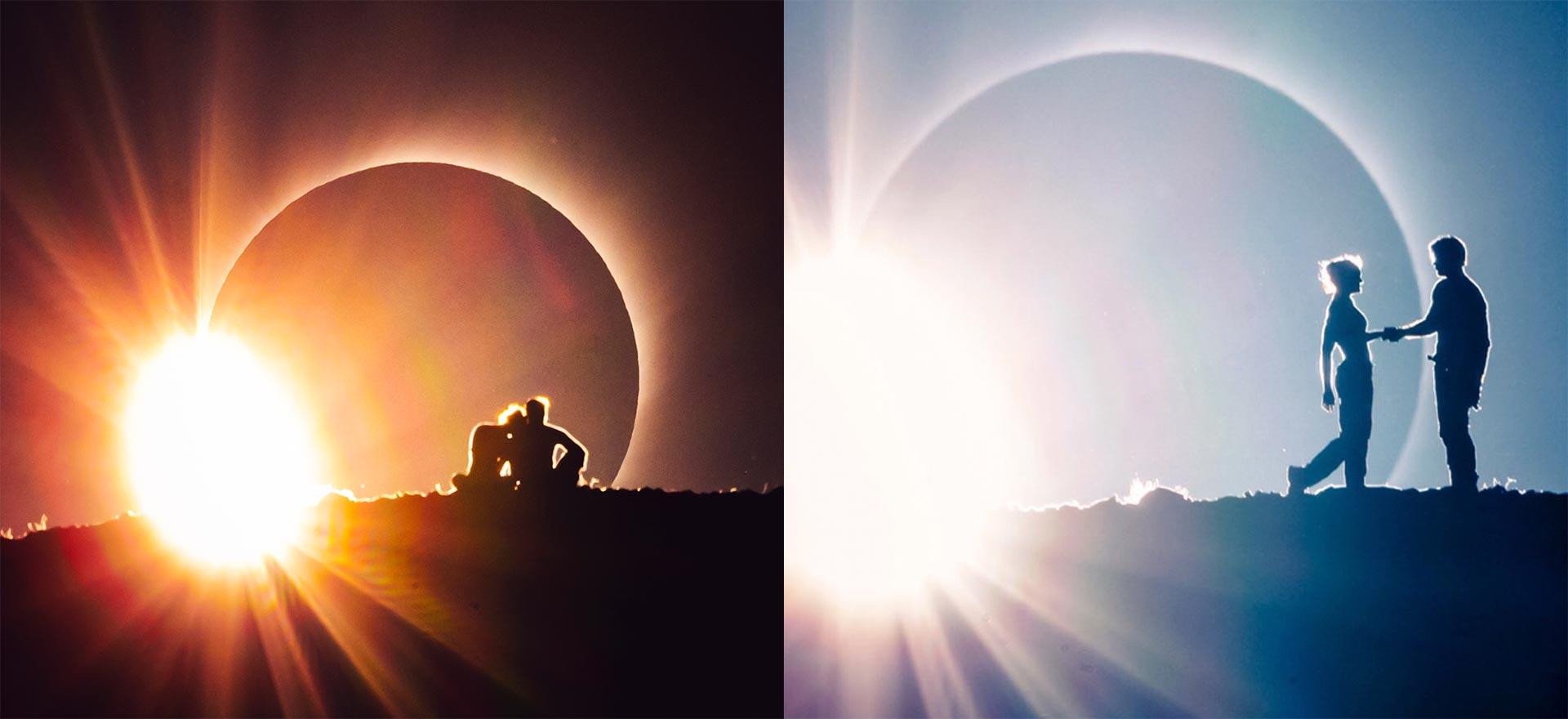 Honako hau da zinemako lehen eszena atzeko planoan eguzki eklipsea duena.  Besterik ez zuten 2 minutu