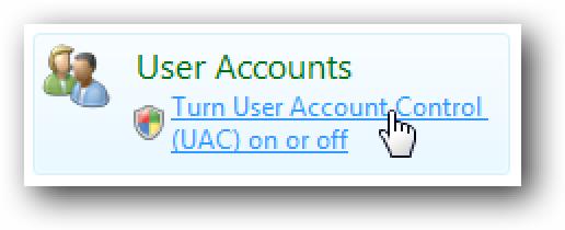 4 UAC modu gogaikarria bihurtzeko moduak Windows 7  / Vista