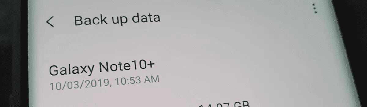 4 Zure datuak Galaxy Note 10-en gordetzeko moduak