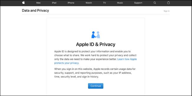 AEBetako erabiltzaileek orain deskarga ditzakete Apple Kontuaren datuak, Hona hemen nola egin 1
