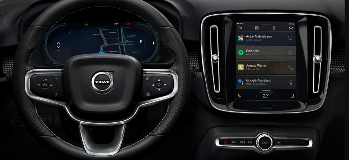 Android Automotive OS Volvo XC40-ren bertsio elektriko berrian agertuko da