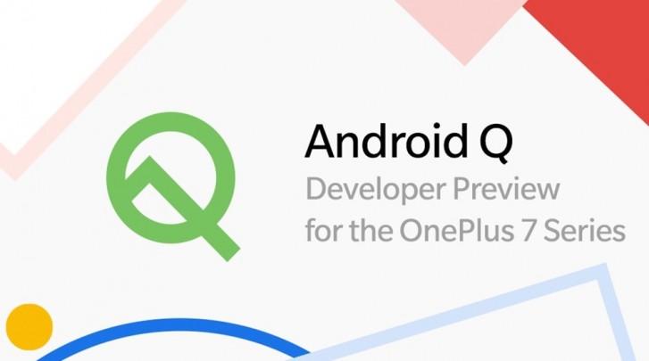 Android Q beta OnePlus 7 eta 7 Pro argitaratua