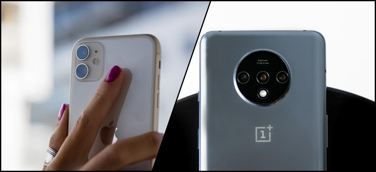 Android errentagarriena iPhone kostu-eraginkorrena.  OnePlus 7T edo iPhone 11 - zein telefono aukeratu beharko zenuke?