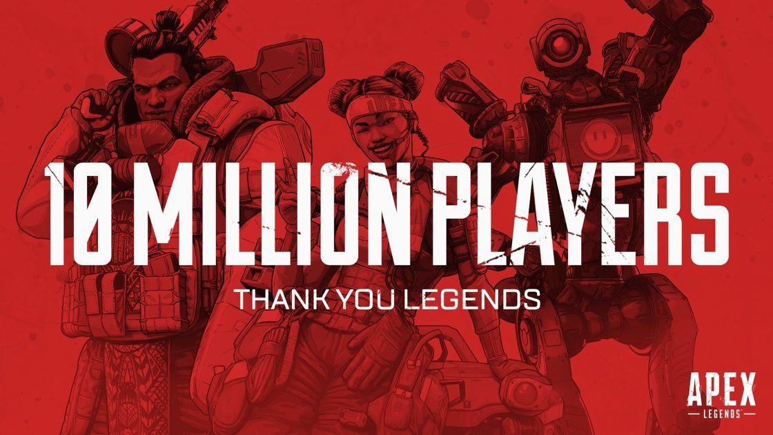 Apex Legends 10 milioi jokalarirengana iristen da