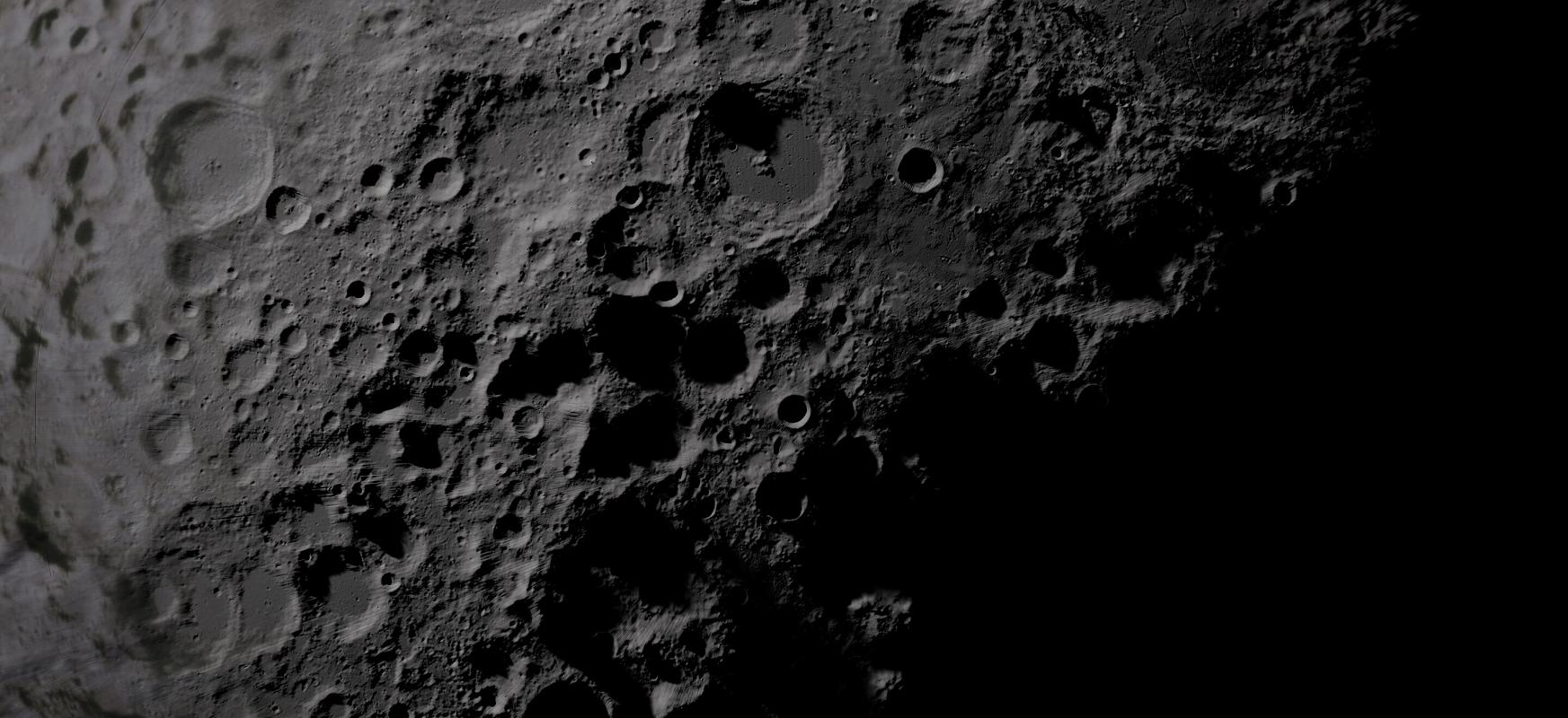 Asteroide erraldoiek ilargia bonbardatu zuten.  Dinosauroak Lurrean hil zituenaren antzekoak ziren