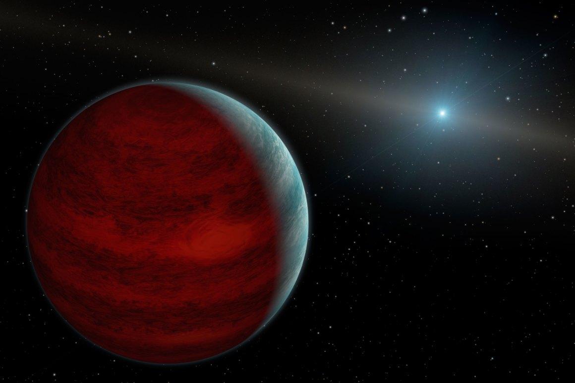 Astronomoek harritzeko beste arrazoi bat dute.  HR 5183 b exoplaneta da, eta bere orbita ez da normalean jokatzen