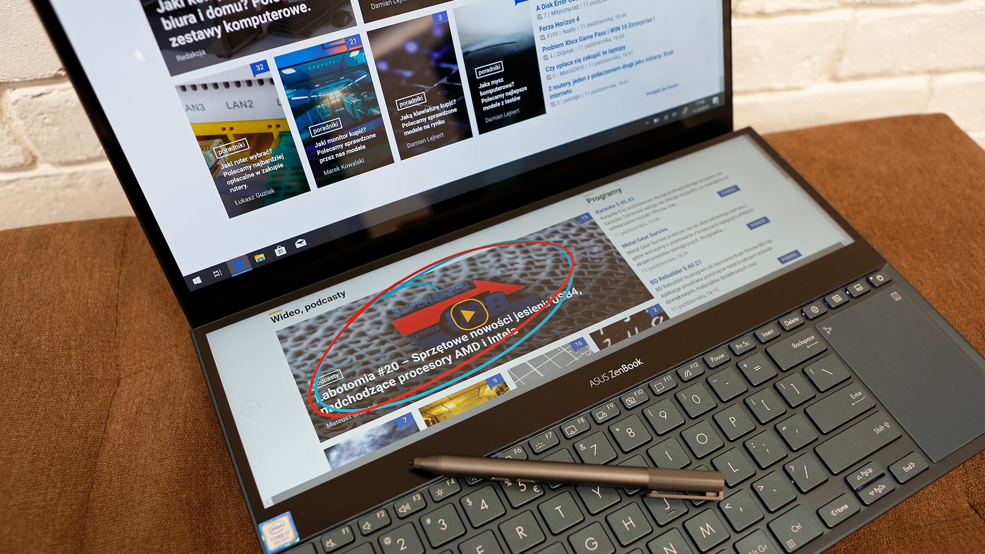 Asus ZenBook Pro Duo UX581GV - pantaila bakarra nahikoa ez denean.  Ordenagailu eramangarriaren proba bi pantailarekin.
