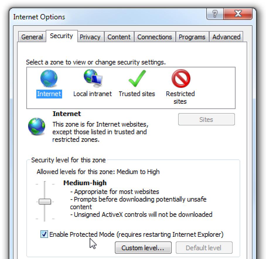 Babestu ezazu Interneteko Internet Explorer segurtasun zulotik azkenera