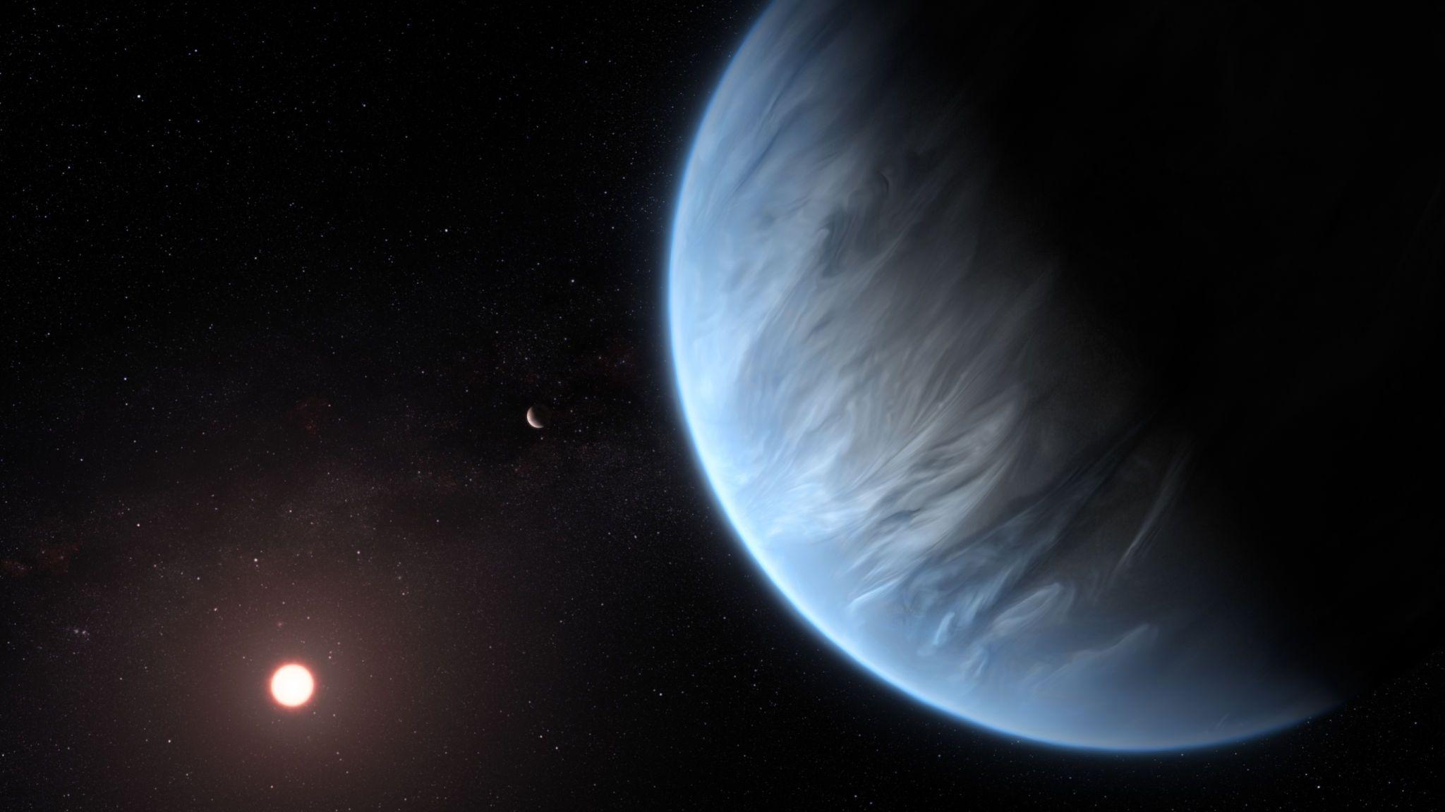 Beste planeta batzuetan ere euria ari du.  Ezagutu K2-18b