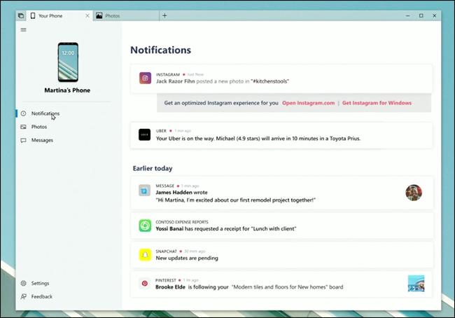 Bidali zure ordenagailutik testuak datozen hauekin Windows Feature 2
