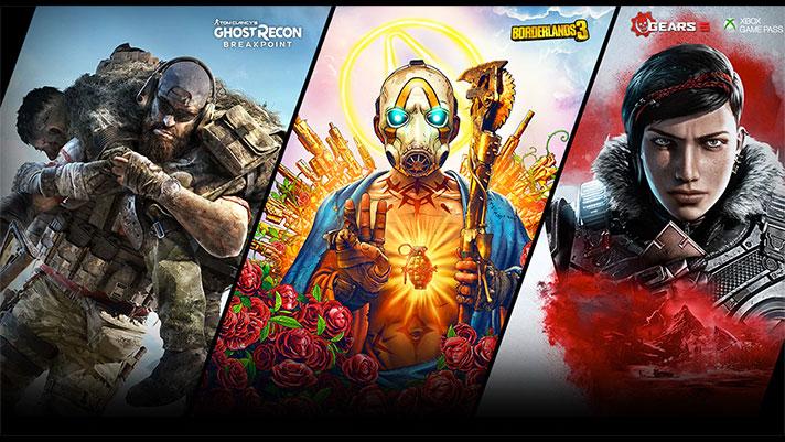 Borderlands 3, Ghost Recon Breakpoint edo The Kanpoko Munduak doan aukeratutako txartel grafikoekin eta AMD prozesadoreekin