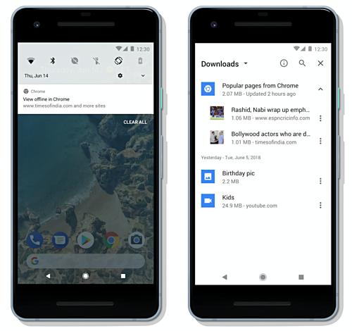 Chrome Android funtzio oso erabilgarria sartu zen
