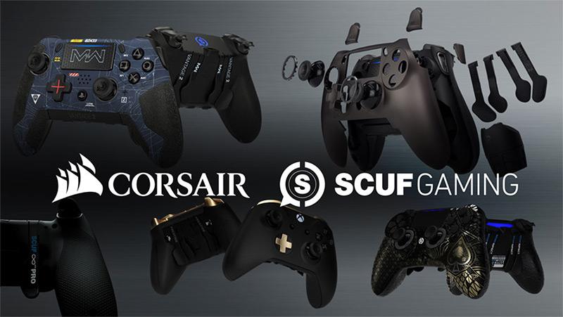Corsair-k SCUF Gaming-a eskuratu zuen, joko kontrolagailu fabrikatzaileak