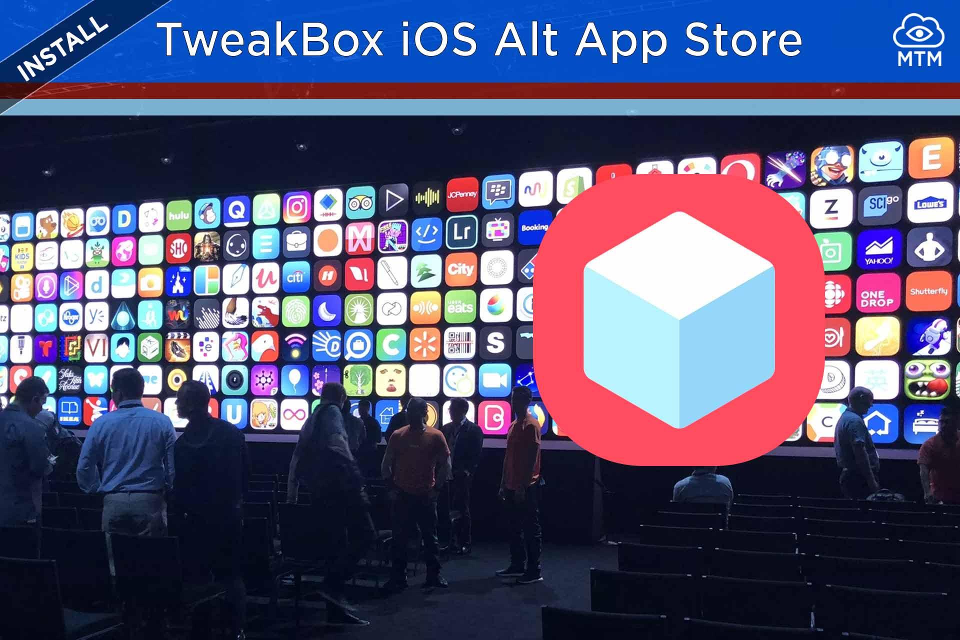 Deskargatu TweakBox iOS eta instalatu iPad edo iPhone