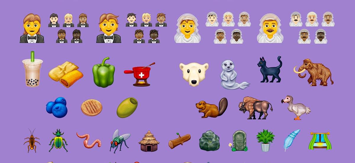 Emozioak adierazteko 117 modu berri.  Dagoeneko Emoji estandarraren bertsio berria dago