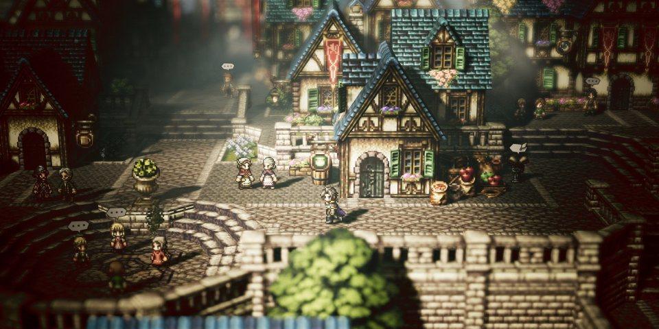 Estatuko Octopath Traveller da Square Enix-en RPGan jokatzeko tokirik onena?