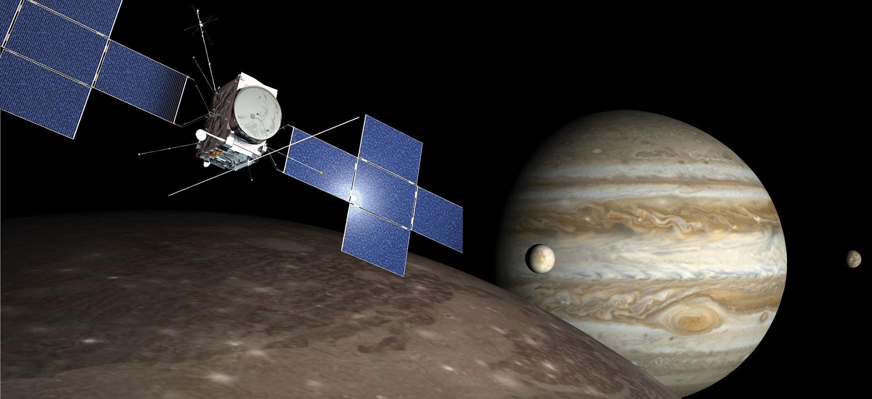 Europako JUICE espazio-ontziak ozeanoak bilatuko ditu Jupiterren lunetan