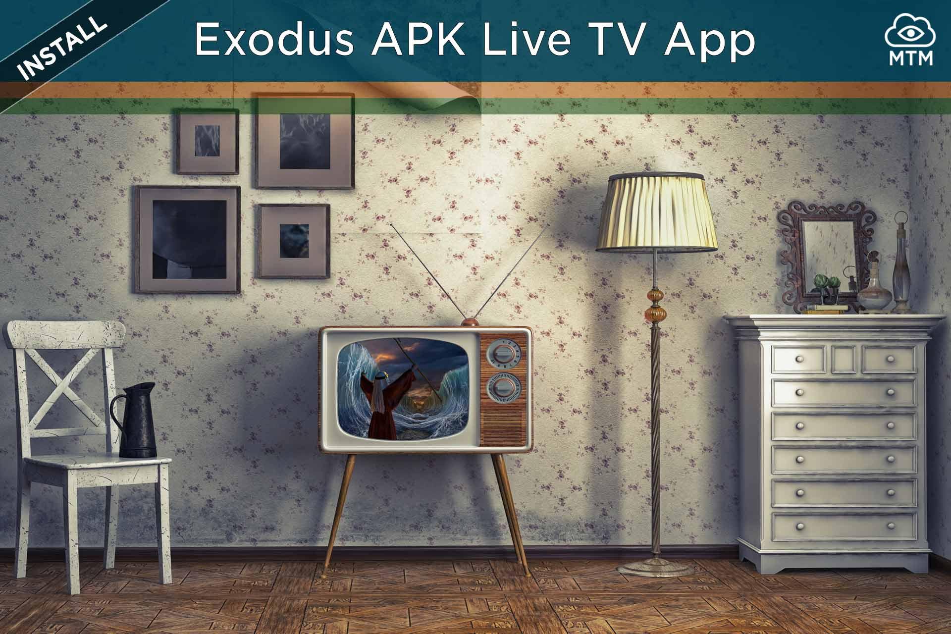 Exodus Live TV APK Deskargatu eta instalatu Doako IPTV linean streaming bidez