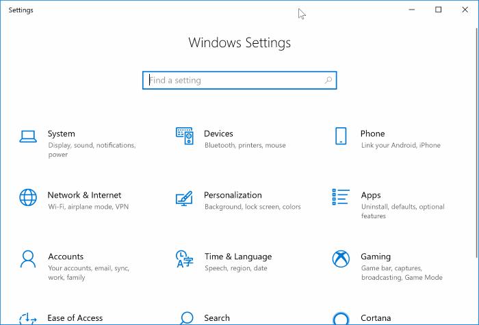 Ezkutatutako aukerak sistema eragilearen aplikazio ezarpenak berrezartzeko Windows 10