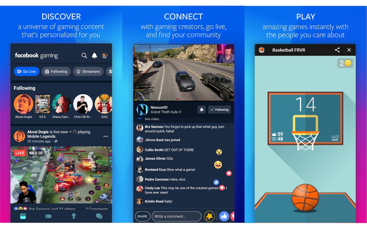 Facebook Gaming aplikazioa abiaraztea