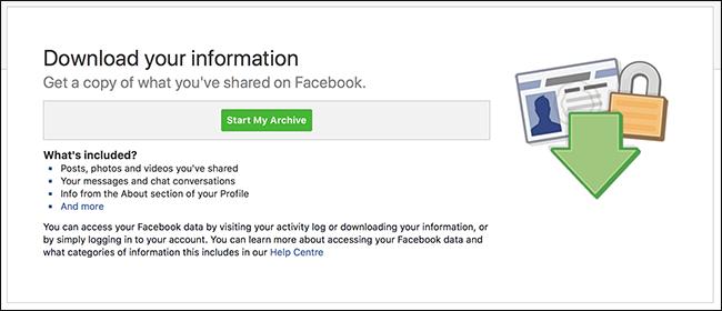 """Facebook""""Deskargatu zure datuak"""" funtzioak asko uzten ditu 1"""