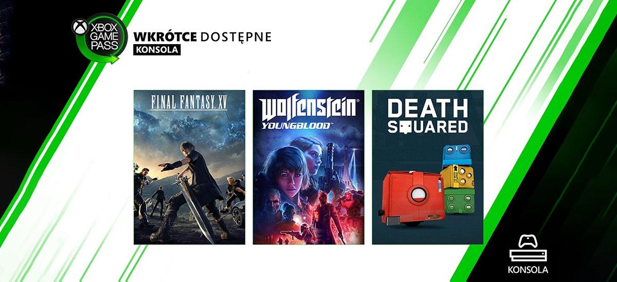 Final Fantasy eta Wolfenstein jokoen azken zatiek Xbox Game Pass jo zuten