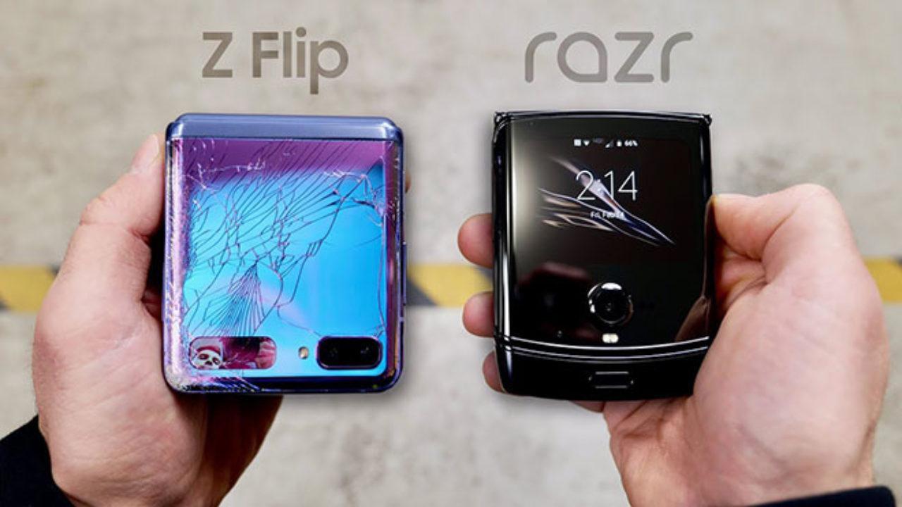 Galaxy Motorola Razr-ek Z Flip-ekin batera bere tronpa txartela partekatu du jaregin proban! Zein sendoagoa da?
