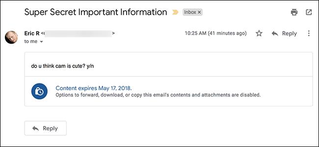 Gmail-en konfidentzial modu berriak nola funtzionatzen duen 1