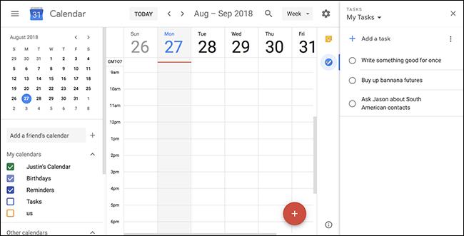 Gmail estiloko alboko panela Google Docs eta Google Calendar-era dator 1
