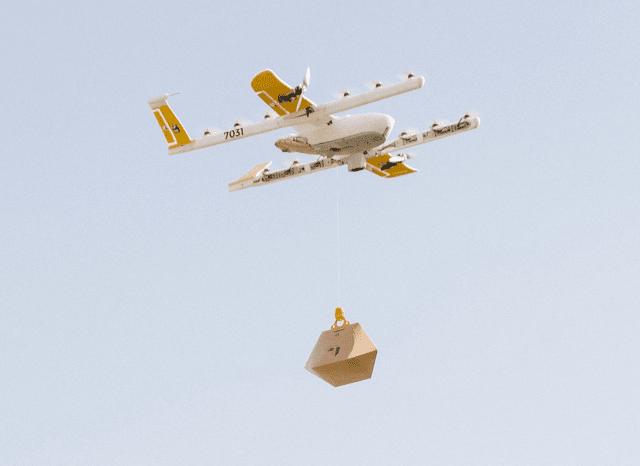 hegaletako droneek egindako entrega